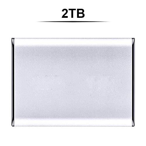 liuxi9836 Externe Festplatte, USB 3.0 SATA3.0 Hochgeschwindigkeits-6-Gbit/s-500G 1 TB-Übertragungsfestkörper-HDD-tragbare Mobile Hochgeschwindigkeitsfestplatte (2,5 Zoll) (Silber, 2T)