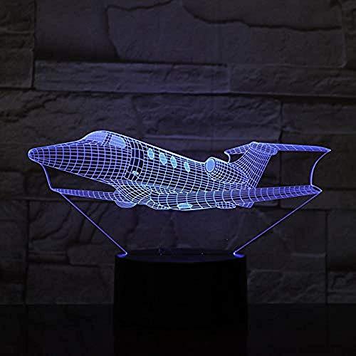 Air Switch 1-tisch-lampe (Air Fighter Flugzeuge 7 Farbe Lampe 3D Led Nachtlichter Für Kinder Touch Usb Tisch Lampara Lampe Baby Schlafen Aircarft)