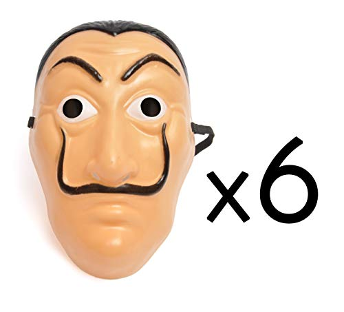 Ciao 23422.6 - Juego de 6 máscaras para adultos, color rosa