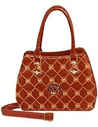ROYAL COLLECTION,Beautiful Women's Printed Handbag (R-008), COLOUR- Orange