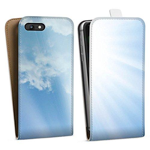 Apple iPhone X Silikon Hülle Case Schutzhülle Wolken Sonnenstrahlen Himmel Downflip Tasche weiß