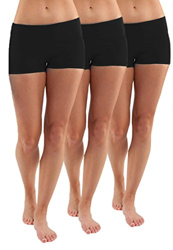 3X Pantacourt Femme Short de Sport Fitness Capri Boy Shorts Noir sous-Vetements Shorty XL
