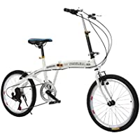 YEARLY Bicicleta plegable estudiante, Bicicleta plegable infantil Plegable de vehículos Shimano 6 velocidad de Hombres