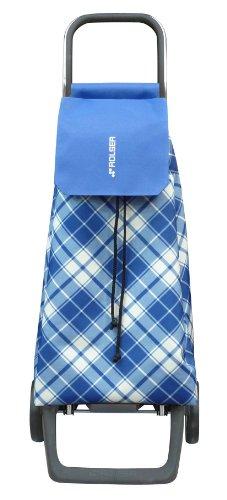 Rolser JET017B Poussettes à marché Joy/Carpi 40 L en Bleu, Polyester, Multicolore, 32x27x95 cm