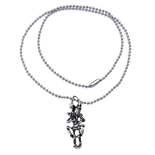 Flybloom Männer Junge Halskette Schädel Anhänger Kette Halskette Pullover Ketten Charme Zubehör