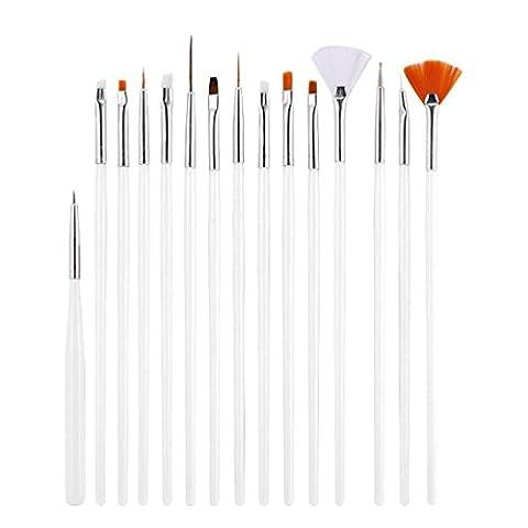MML Nail Art Tool Kit Set,15PC Nail Art Design Painting Dotting Detailing Pen Brushes Bundle