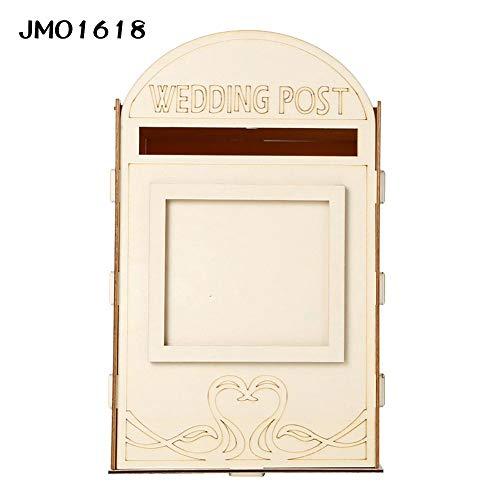 Rcraftn Hölzerne Hochzeitskarte Wooden Wedding Card Box Royal Mailbox Briefkasten Hochzeit DIY Dekoration Lieferungen Für Karten