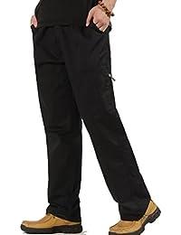 Ghope Cool d'été Homme Pantalon Cargo En Coton Multi Poches Loose Mince Grande Taille Loisir Travail Vintage Style Combat Militaire Pants