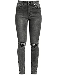 Fashion Victim High Waist Jeans Jean Femme gris