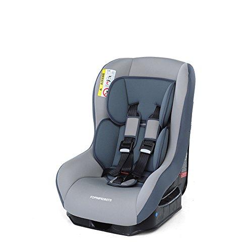 Foppapedretti Go! Evolution, Seggiolino auto , Argento, Gruppo 0/1 (0-18 Kg) per bambini dalla nascita fino a 4