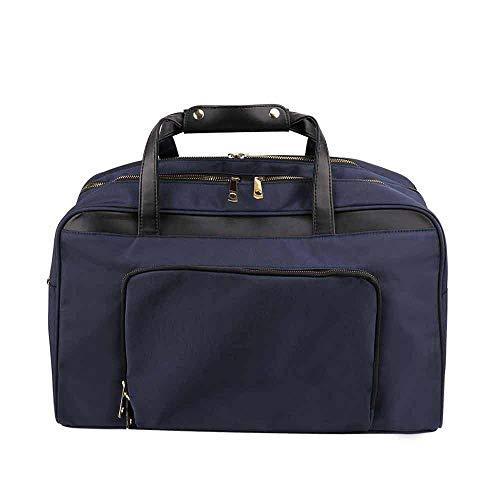 Aolvo borsa a tracolla casual diagonale borsa da viaggio tracolla borsa da viaggio bagaglio a mano all'aperto zaino antifurto impermeabile usb uomo -blu scuro