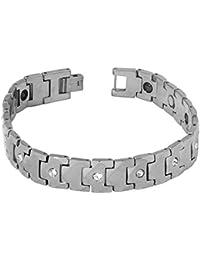 ef941d8530a0 Le Jewelbox Plaqué or avec American Diamonds Macho de tungstène pour homme  Bracelet