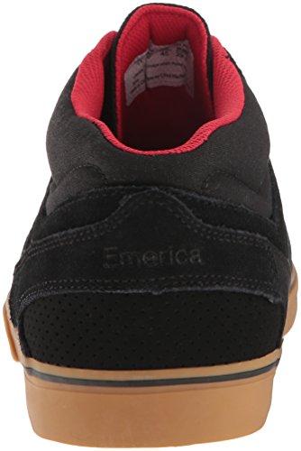 Emerica Westgate Mid Vulc Gum, Scarpe da Skateboard Uomo Black/gum