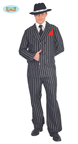 20er Jahre Gangster Anzug für Herren Gr. M/L, Größe:L (Herren Gangster Anzug)