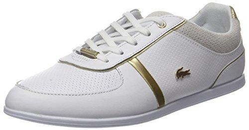 Lacoste Damen Rey Sport 118 1 Caw Sneaker, Weiß (WHT/WHT), 38 EU