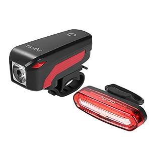 41u YIPUL5L. SS300 Aglaia Luce Della Bicicletta, Lampade a LED Bicicletta Aglaia, Ricarica USB Luci Anteriore e Posteriore Impermeabile 4…