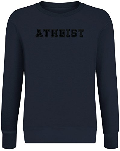 Atheist Sweatshirt Jumper Pullover for Men & Women Soft Cotton & Polyester Blend Unisex Clothing Medium