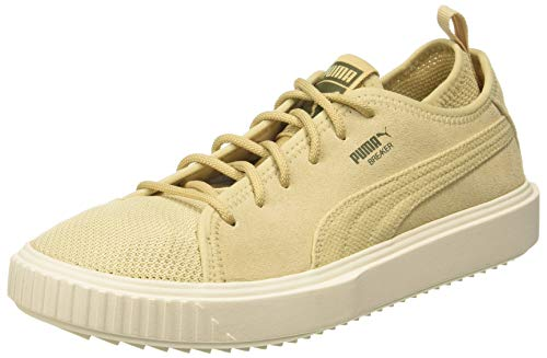 Puma Unisex Breaker Mesh Camo Pebble, Whisper White and Capulet Olive Sneakers