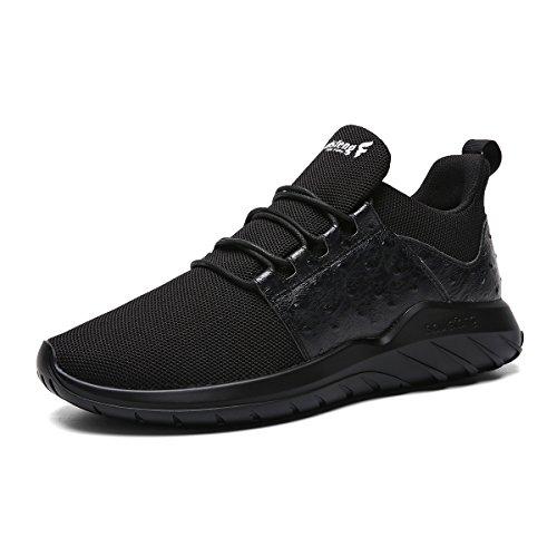 Soulsfeng Sneakers Zapatos Deportivos para Mujer Zapatos con Cordones Correas Amortiguación Malla transpirable Tela Zapatos Planos Negros y Rojos(gris 38EU) jdCi9yIRd