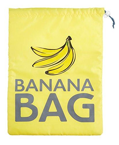 Kitchen Craft - Sacchetto in poliestere per conservare banane, 38 x 28 cm, giallo