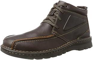 Clarks Men's Vanek Rise Boots, Brown (Brown Oily), 9 UK