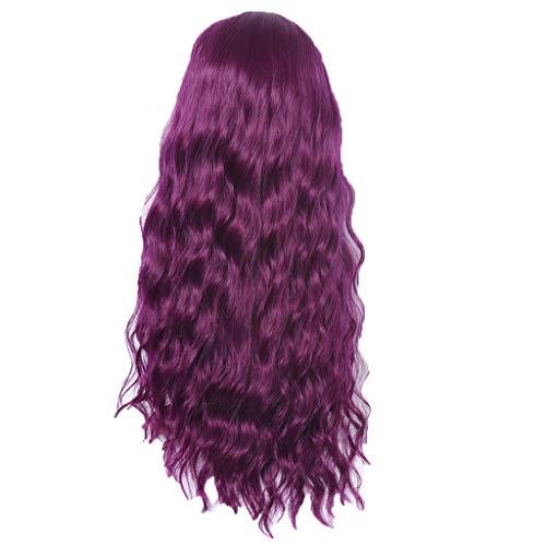 Ttmall parrucche sintetiche donna,parrucche porpora capelli lunghi,parrucche carnevale bambina,parrucca per capelli per costume da anime,era fatto di seta ad alta temperatura
