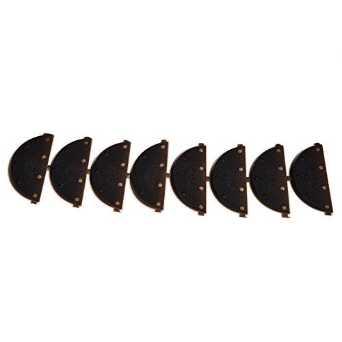 TOOGOO 4 Paires Protege-semelle antiderapant Autocollants antiderapant pour le talon des chaussures Coussin de protection antiderapant pour le talon des chaussures Accessoires