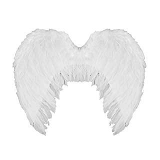 Large White Angel wings with Feathers