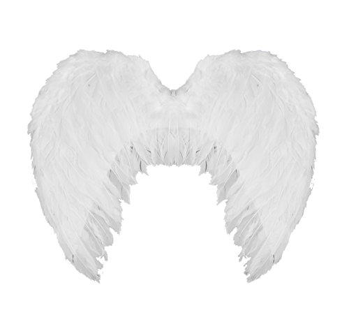 ILOVEFANCYDRESS Groß Weiß Engel Flügel mit Federn