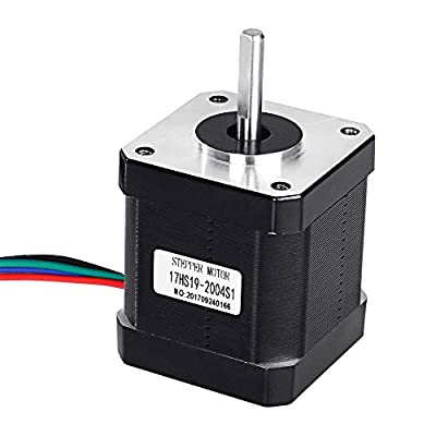 DorisDirect Stepper Motor Nema 17 Bipolar 48mm 84oz.in(59Ncm) 2A 4 Lead with 1m Cable and Connector for 3D Printer Hobby CNC