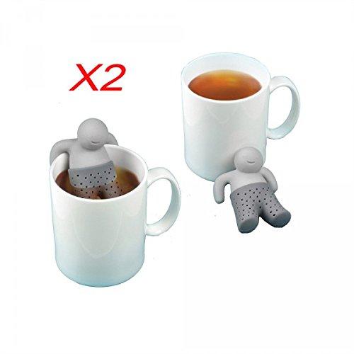 Pack of 2X Infuser del tè Infusione colino da tè filtro a forma di Mr Tea