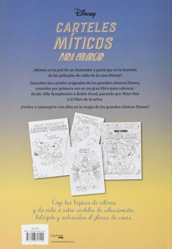 Disney Carteles Míticos Para Colorear Hachette Heroes Disney Colorear