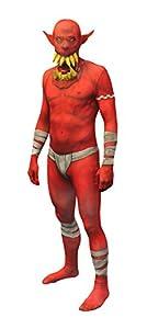 Morphsuits MLORR2 - Disfraces Red Orco mandíbula cuentagotas Morphsuit Adulto XXL 6 pulgadas 1-9 6 pulgadas, 186 cm - 210 cm, XXL, Multi