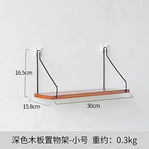 T-QTBG Einfacher und kreativer Wandregal aus Holzwandregal, dekorativer Wandregal, dunkle Trompete