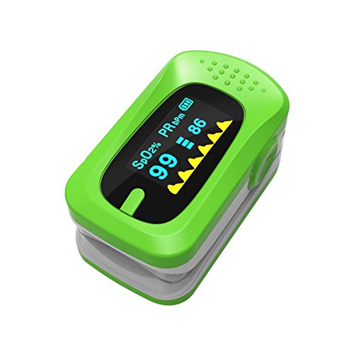CFZHANG Oximeter OLED Farbdisplay Puls Finger Pulsoximeter PulsmessgeräT Oximeter Pulsmesser , green