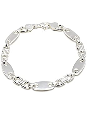 925 Silberarmband: Plattenarmband Silber mit der Breite 6,5mm und auswählbare Länge 19cm und 21cm