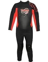 TWF - Neopreno para surf, color rojo, talla UK: 3-4 años
