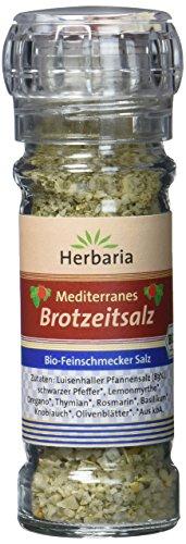 Herbaria Mediterranes Brotzeitsalz Mühle BIO, 2er Pack (2 x 80 g)