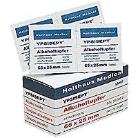 Holthaus Medical YPSISEPT® Alkoholtupfer Tupfer Hautreinigung Alkohol Tücher, 65x25mm, 100St preisvergleich bei billige-tabletten.eu