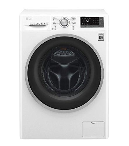 LG F4J7TN1W Freestanding Front-load 8kg 1400RPM A+++-40% White washing machine - Washing Machines (Freestanding, Front-load, White, Rotary, Touch, LED, White)