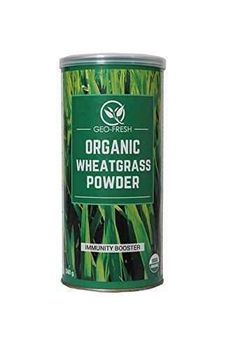 Geo Fresh Organic Wheat Grass Powder (240g) - USDA Certified  available at amazon for Rs.415