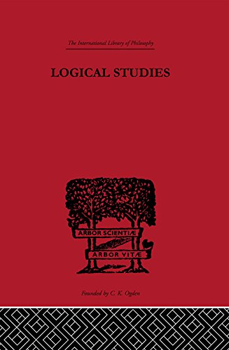 Logical Studies (International Library of Philosophy) (English Edition)