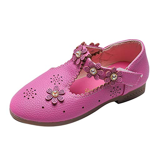 Precioul Mädchen Prinzessin Kostüm Ballerina Festliche Mädchenschuhe Taufschuhe Schuhe Blumen Glitzersteine Prinzessin Schuhe Mary Jane - Indian Rosa Prinzessin Kostüm
