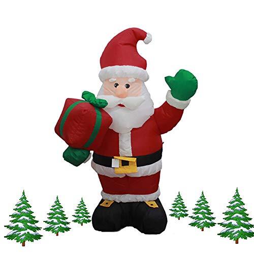 L&Z Weihnachtsbeleuchtung, Weihnachtsschmuck Weihnachtsmann Figur Aufblasbare 120Cm Hohe Geschenkbox...