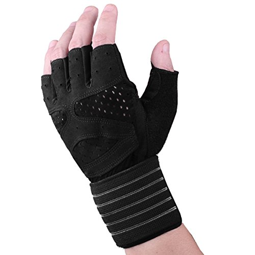 Fitself-Weight-Lifting-Gloves-Mens-Wrist-Wraps-Support-Microfiber-Breathable-Padded-Full-Palm-Protection-for-Gym-Powerlifting-Strength-Training