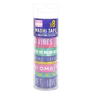 First Edition Washi Tape Tub-Watercolour, Paper, Multicolour, 17 x 5 x 5 cm