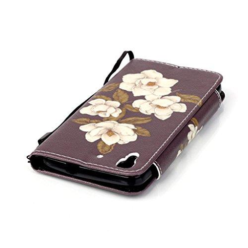 Trumpshop Smartphone Case Coque Housse Etui de Protection pour Huawei P8 Lite + This iPhone is Locked + Smartphonecoque Portefeuille PU Cuir Anti-Choc Jasmin