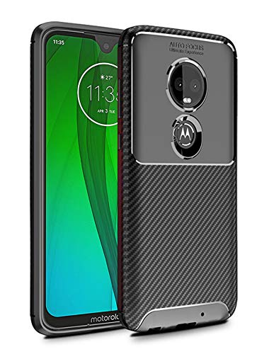 Case Collection Carbonfaser Design Hülle für Motorola Moto G7 / G7 Plus Hülle (6,2