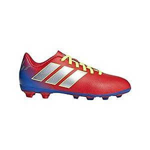 Adidas Nemeziz Messi 18.4 in J, Zapatillas de Fútbol para Niños, Rojo Active RedSilberFoilFootball Blue, 30 EU
