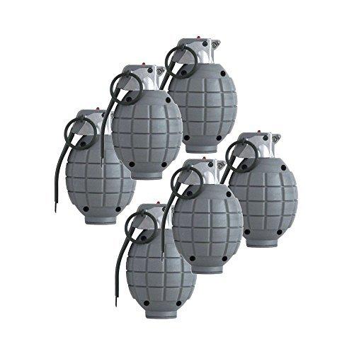 Los niños del ejército del juguete granadas de mano - conjunto de 6 Negro maniquí Granadas